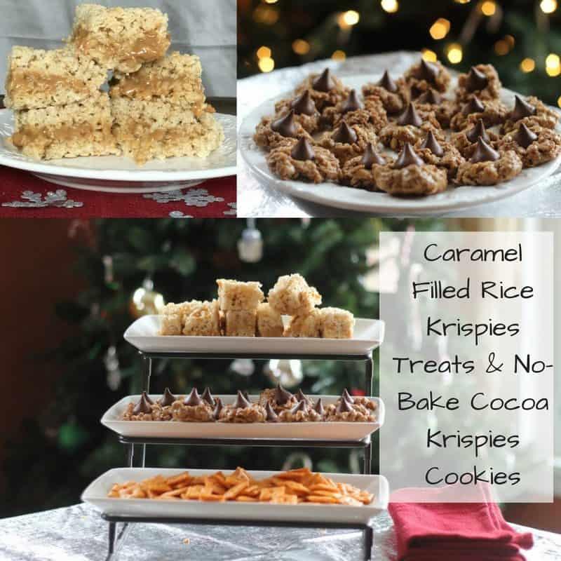 Caramel Filled Rice Krispies Treats & No-Bake Cocoa Krispies Cookies #TidingsAndTreats