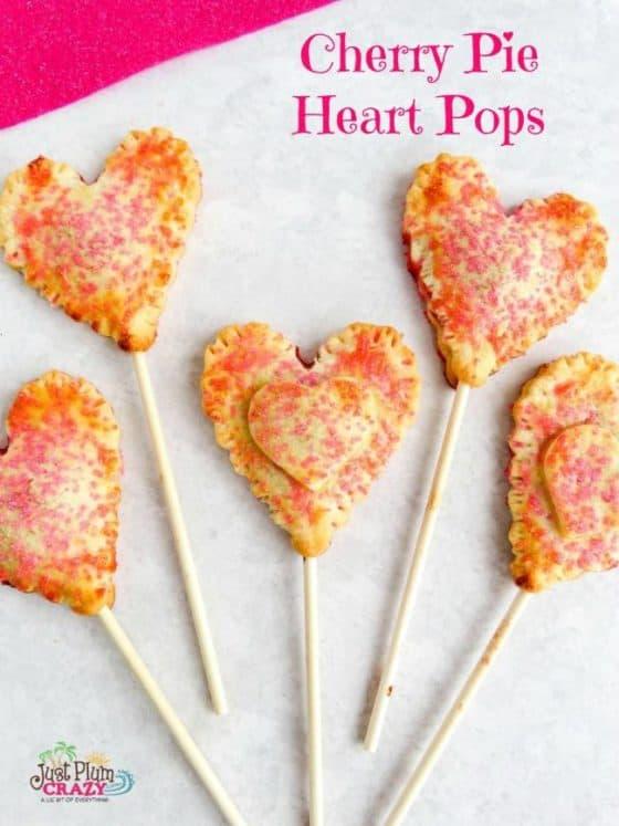Cherry Pie Heart Pops 12 Days of Valentine's Day Recipes & Crafts