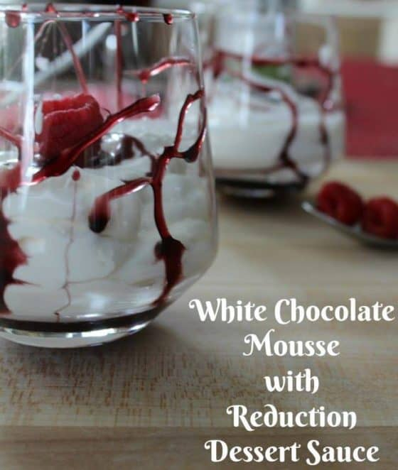 White Chocolate Mousse - 12 Days of Valentine's Day Recipes & Crafts