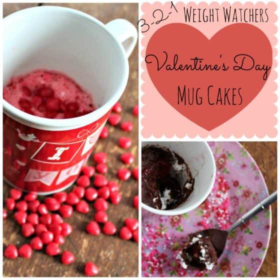 3-2-1 Mug Cakes 12 Days of Valentine's Day Recipes