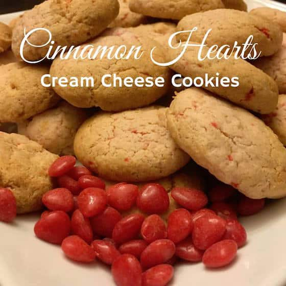 Cinnamon Heart Cream Cheese Cookies {Valentine's Day Recipes}
