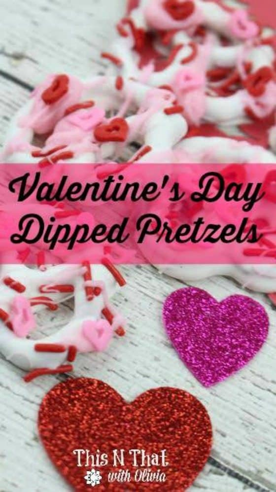 Valentine's Day Dipped Pretzels Day 1 of 12 Days Of Valentines Day Recipes & Crafts