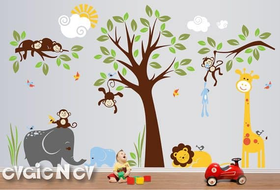 Win To Spend On Customizable Wall Decals From EvgieNev - Lion king nursery wall decals