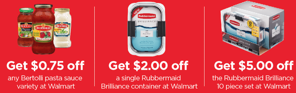 Check Out Rubbermaid® Brilliance™ Containers & Bertolli® Sauces And Save Money!