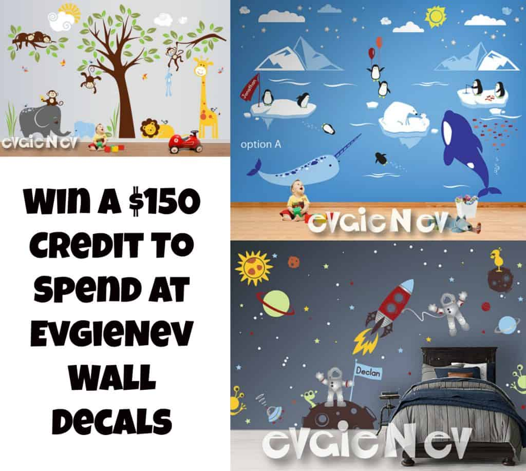 Need To Decorate A Room? Win A $150 Credit To Spend At EvgieNev Wall Decals #WallDecals