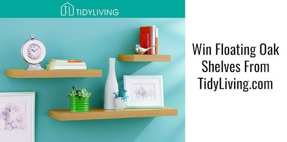 Win Floating Oak Shelves From Tidy Living