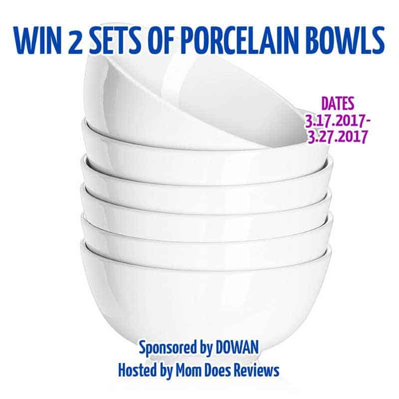 Win 2 sets of porcelain bowls ($59.98 ARV)