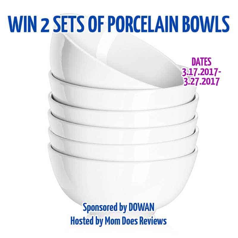 Win 2 sets of porcelain bowls ($59.98 ARV)