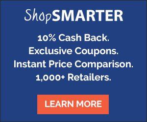 ShopSmarter- Get 10% Cash Back at Over 1,000 Stores! #ShopSmarter