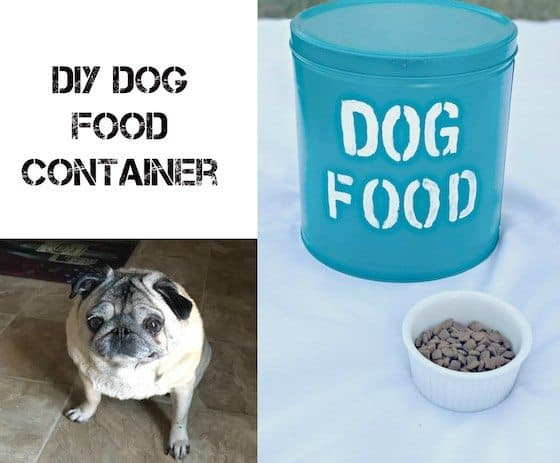 DIY Dog Food Container #NutritionWorthWaggingFor