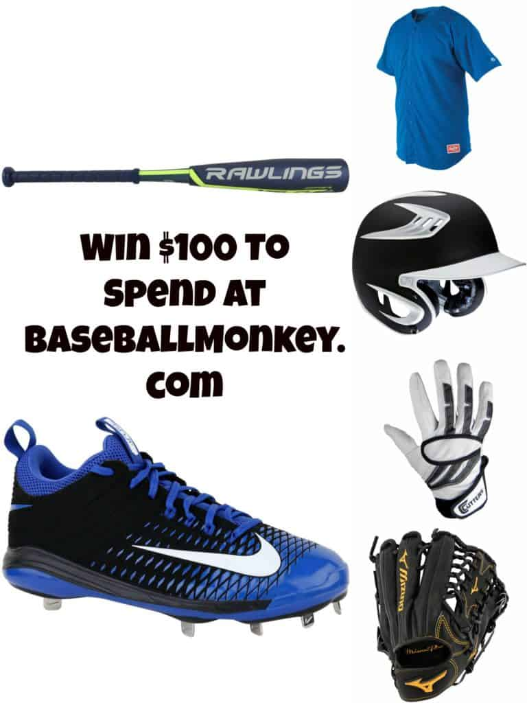 Enter To Win a $100 Gift Card to BaseballMonkey.com