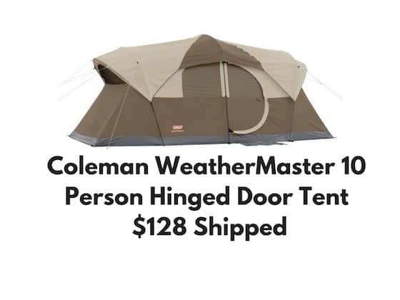 Tent With Hinged Door : Coleman weathermaster person hinged door tent