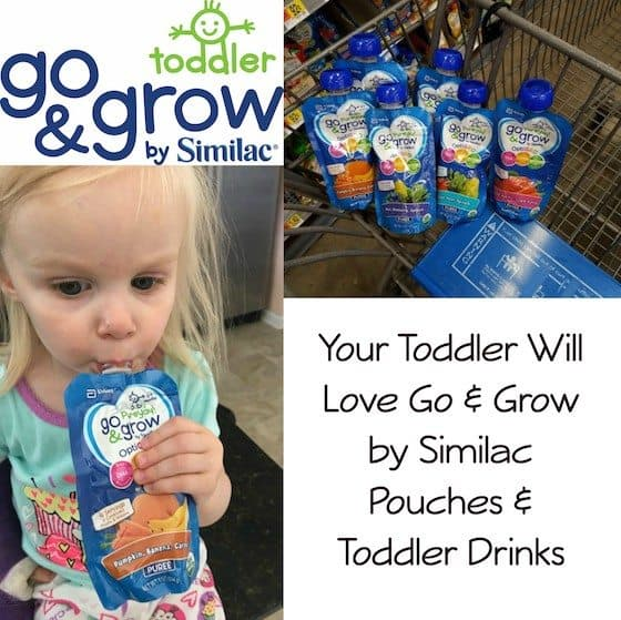 Your Toddler Will Love Go & Grow by Similac Pouches & Toddler Drinks #Go&GrowatWalmart