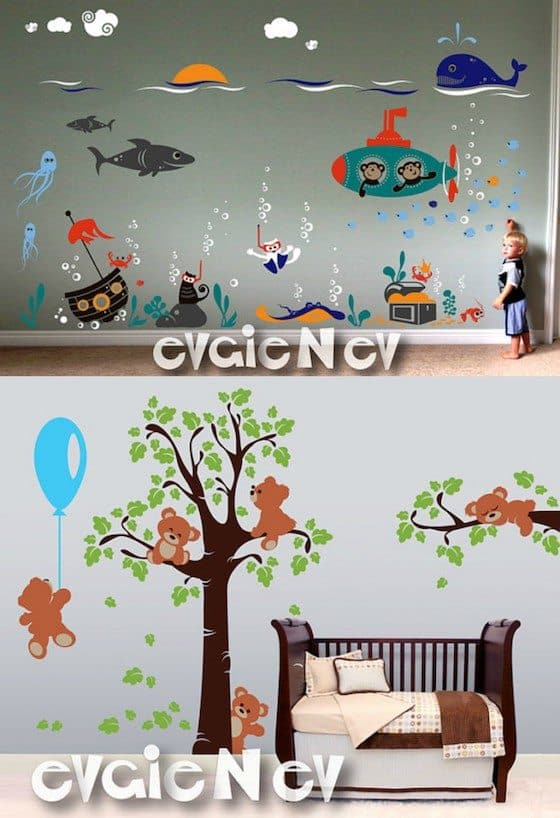 $150 Giveaways wall decal bears
