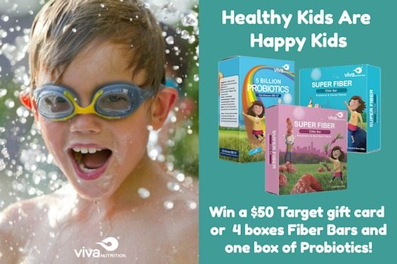 Win A $50 Target Gift Card Or #vivaNUTRITION Products - Healthy Kids are Happy Kids