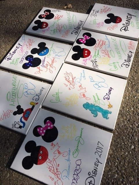 Disney Autograph Canvases