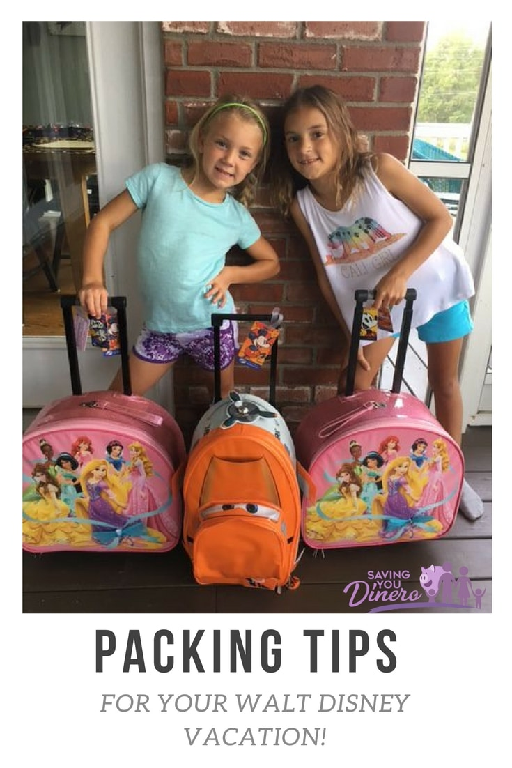 Packing tips for your Walt Disney World Vacation with Kids.