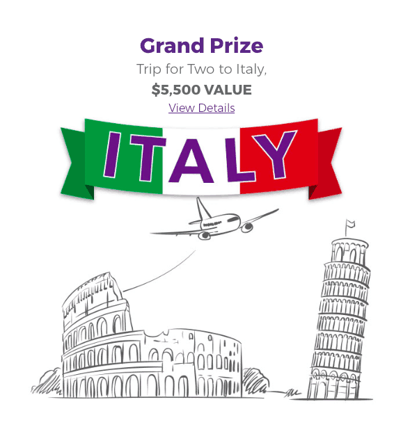 Win a Trip for Two to Italy with DaVinci Pasta's Endless Pastabilities Sweepstakes!
