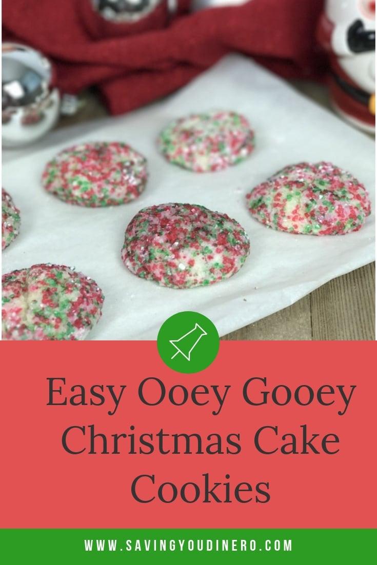 Easy Ooey Gooey Christmas Cake Cookies Saving You Dinero