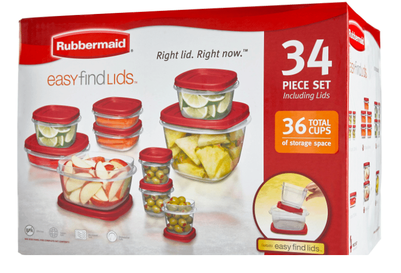 Rubbermaid Food Storage Container Set 34pc Red Rubbermaid