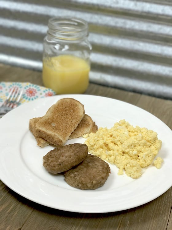 Cheese & Egg With Sausage Breakfast {Quick & Easy Breakfast}