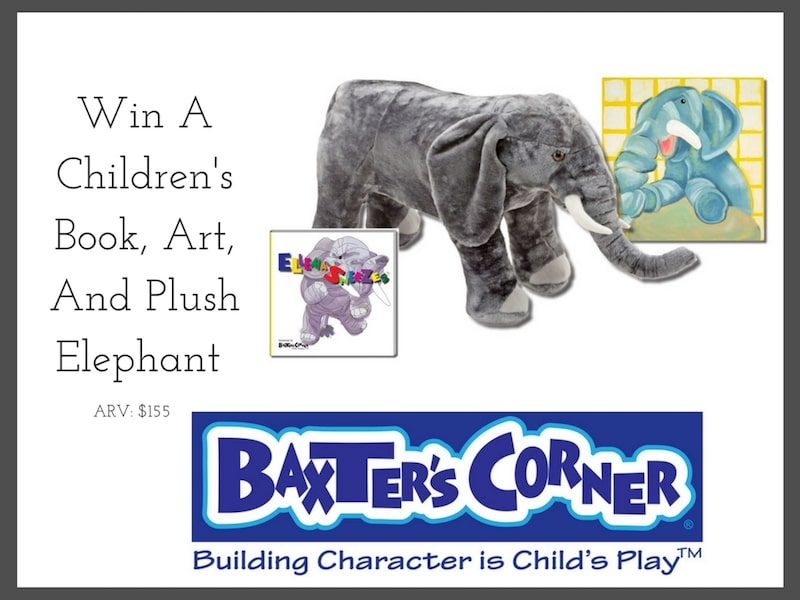 Win A Children's Book, Art, And Plush Elephant From Baxter's Corner