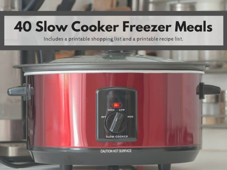 Crock Pot Freezer Meals are a great way to save time and money in the kitchen. Here are my 40 Crock Pot Freezer Meals.