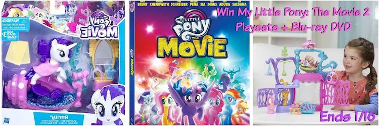 My Little Pony Giveaway 2 Playsets + Blu-ray DVD