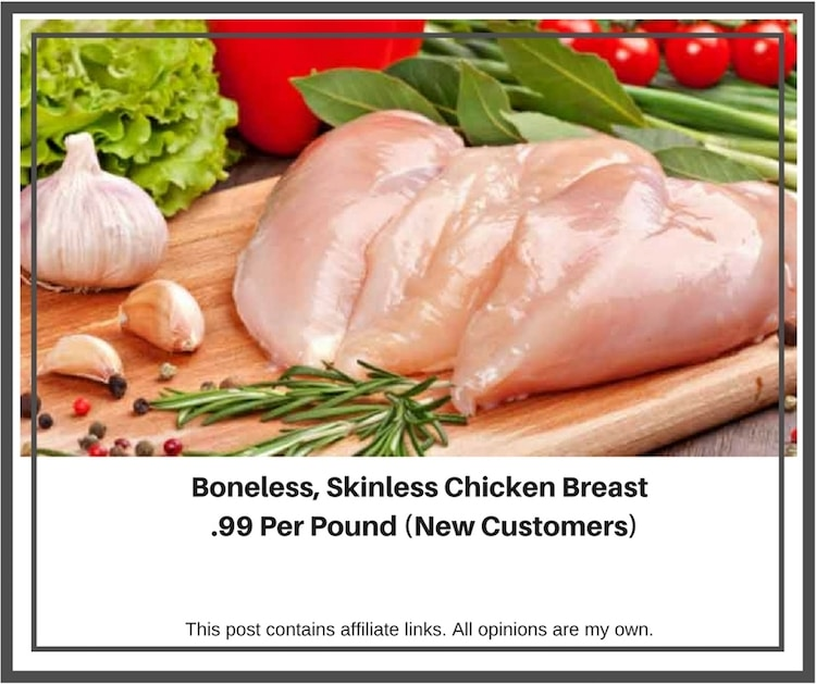 Flash Sale: Boneless Skinless Chicken Breast .99 Cents Per Pound!