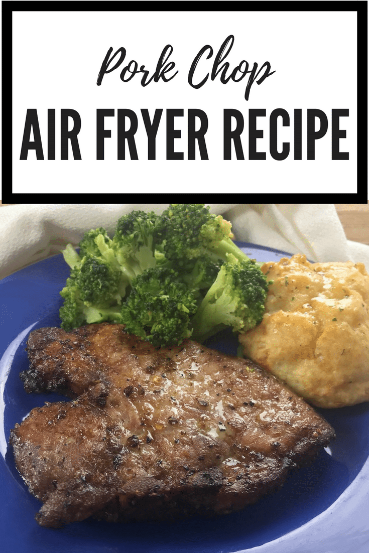 I love how easy it is to make healthier versions of my favorite meals. Try out this easy Pork Chop Air Fryer recipe. It cooks in less than 15 minutes!