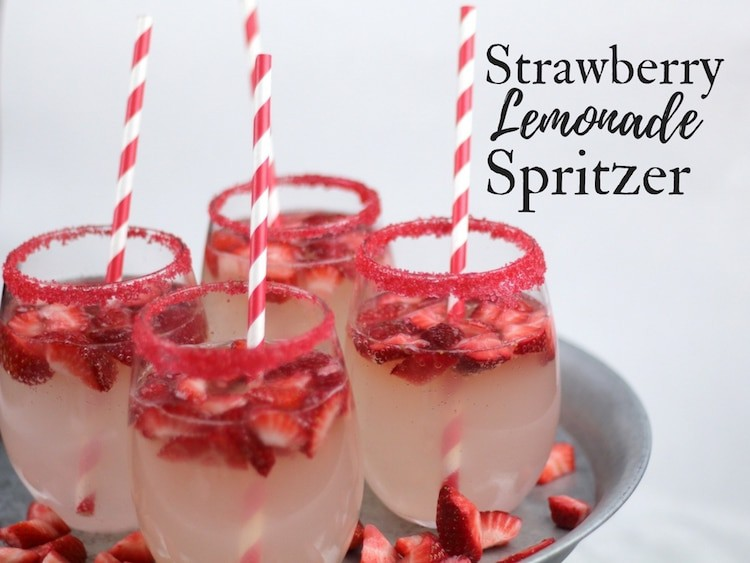 Strawberry Lemonade Spritzer + Easter Dinner Tips