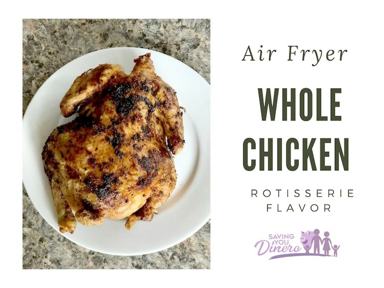 Air Fryer Whole Chicken Recipe (Also Includes Slow Cooker Instructions)