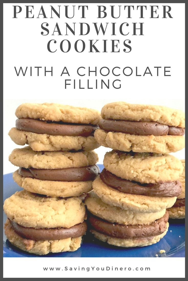 You must make these Peanut Butter Sandwich Cookies With A Chocolate Filling . They are sorta like peanut butter kiss cookies with out worrying about not having a bite of cookie without the chocolate. Or you could say they are like the cookie version of a peanut butter cup.