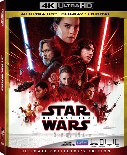 Star Wars: The Last Jedi on HD and 4K Ultra HD™ Update + Bonus Info #LastJedi