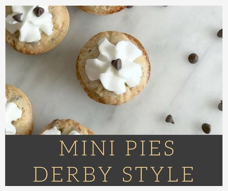 Mini Pies Derby Style (Chocolate Chip Pie)