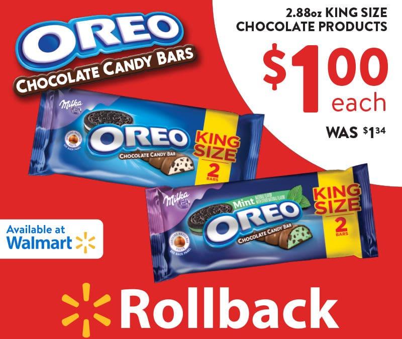 OREO Chocolate Candy Bar Sale at Walmart + Giveaway