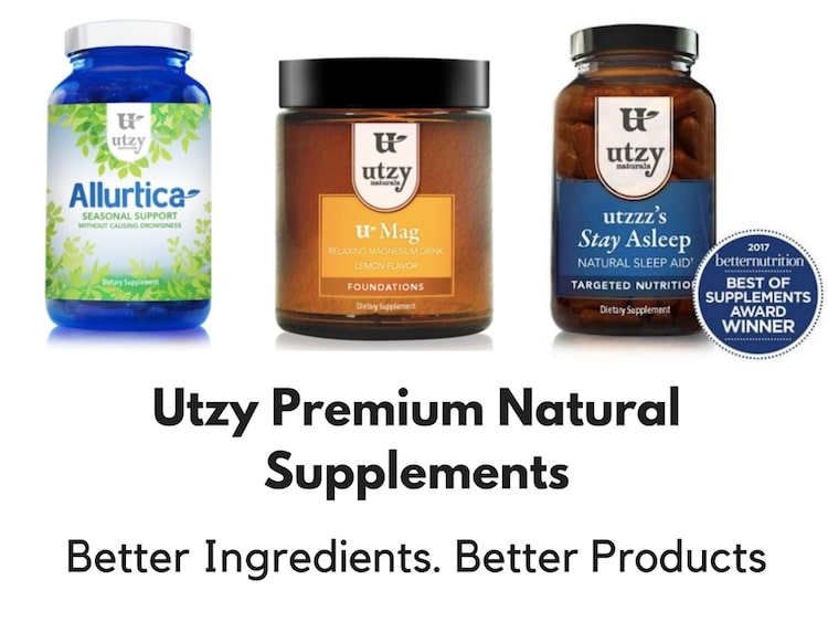 Utzy Premium Natural Supplements  – Better Ingredients. Better Products