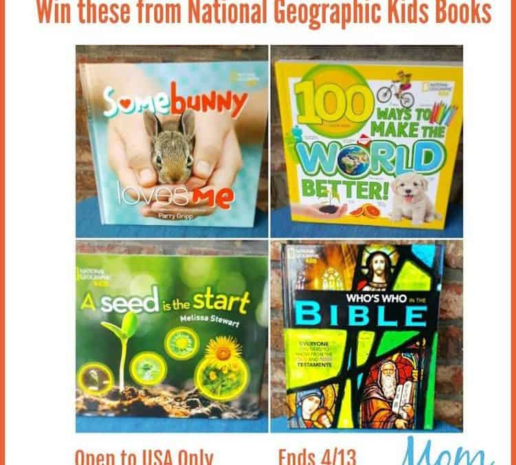 Win a set of 4 books from National Geographic Kids