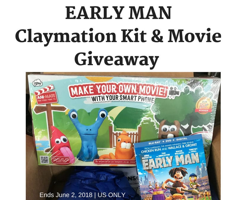 EARLY MAN Claymation Kit & Movie Giveaway & Activities #EarlyMan