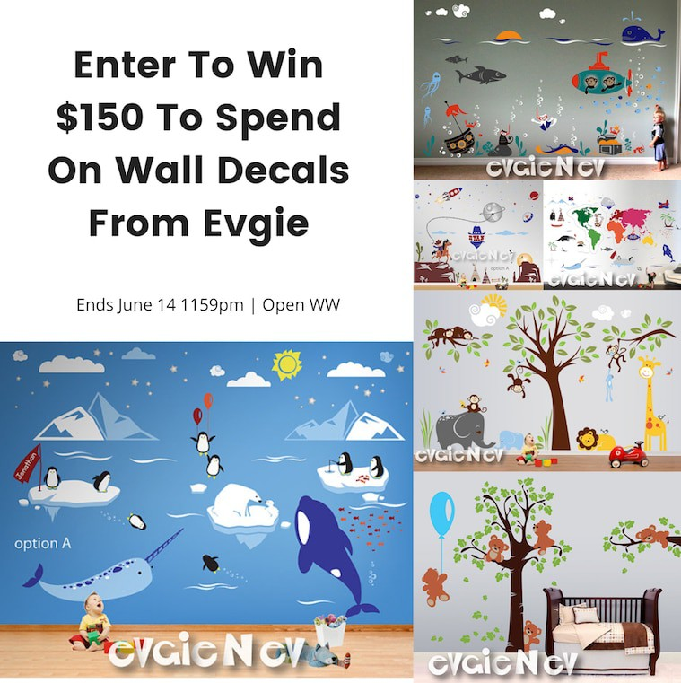 Evgie Wall Decals Giveaway – Ends 6/14/18