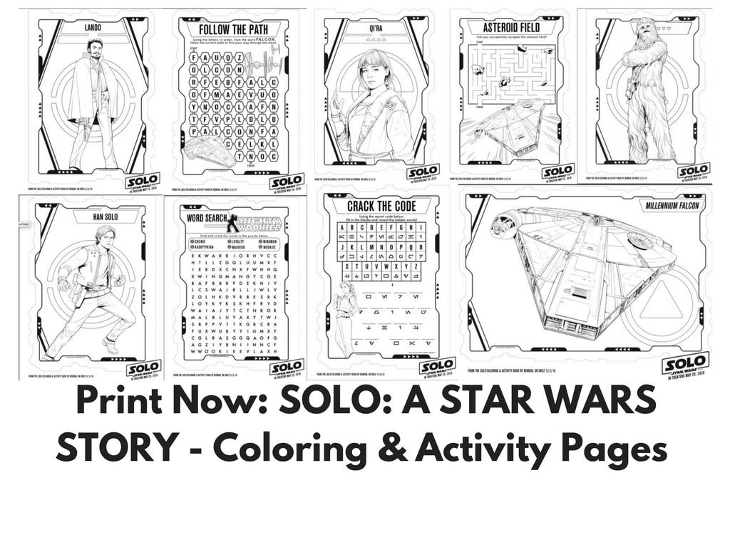 Print Now SOLO A STAR WARS STORY