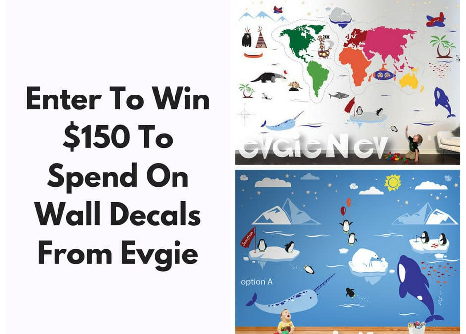 Win $150 From Evgie Wall Decals – It's Time To Redecorate!