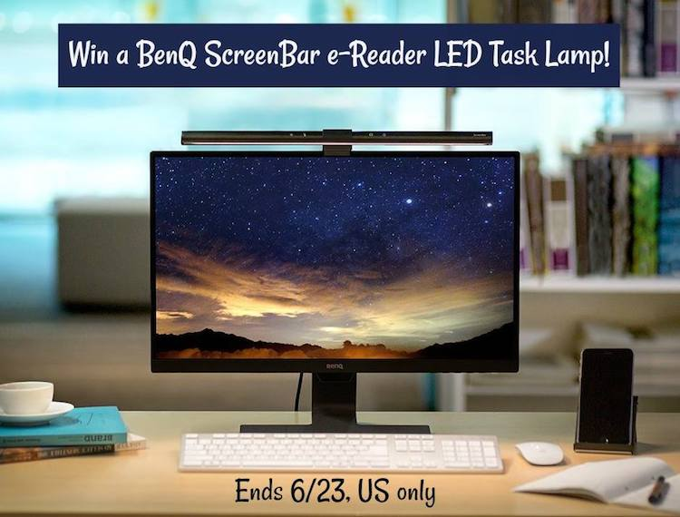 Giveaway: Win A BenQ Screenbar e-Reader LED Lamp $99 ARV
