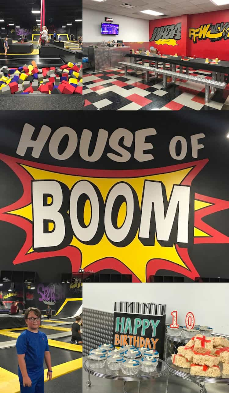 The best birthday party idea in Louisville is at House of Boom! The kids love it and it's less work for the parents! #Louisville #birthday #party