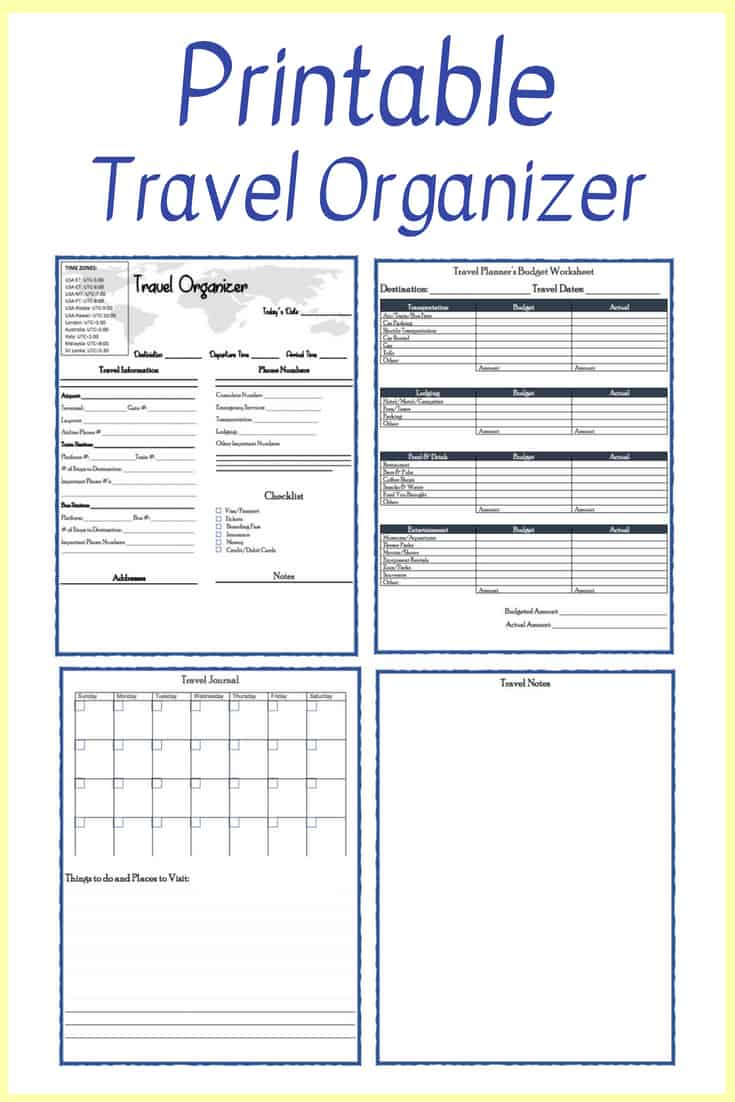 photo about Free Printable Vacation Planner named Absolutely free Printable Drive Planner - Conserving Your self Dinero