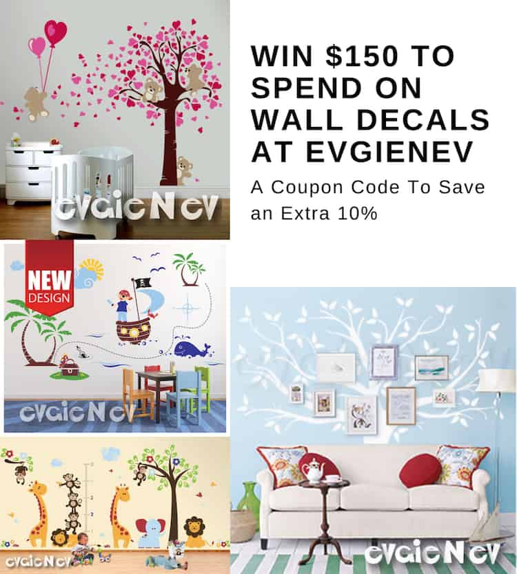 Win $150 To Spend On Wall Decals At EvgieNev + Save An Extra 10%