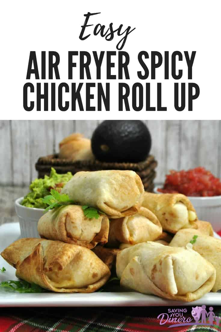 Try this recipe for Easy Air Fryer Spicy Chicken Roll Up. It's a quick and easy dinner for your family. #Chicken #Airfryer #dinner