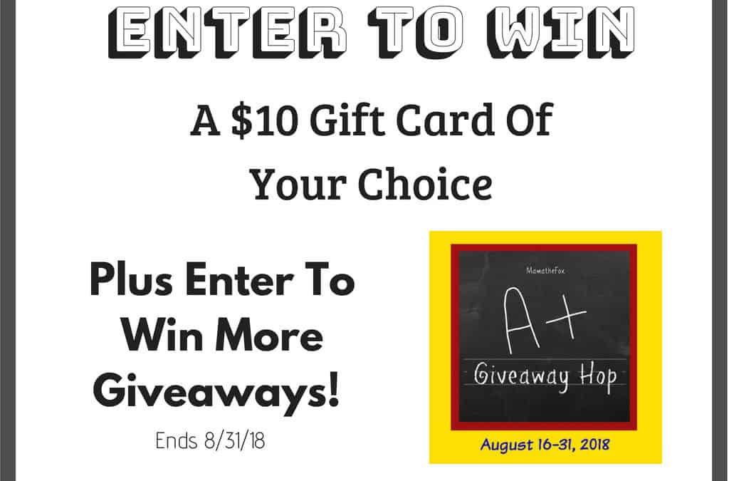 Enter To Win A $10 Gift Card Of Your Choice!
