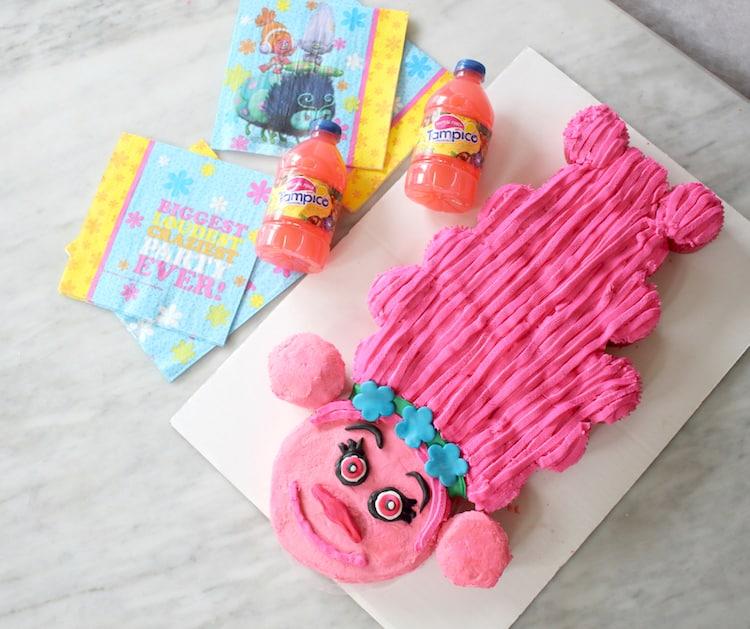 Princess Poppy Pull Apart Cupcake Cake With Tampico Punch