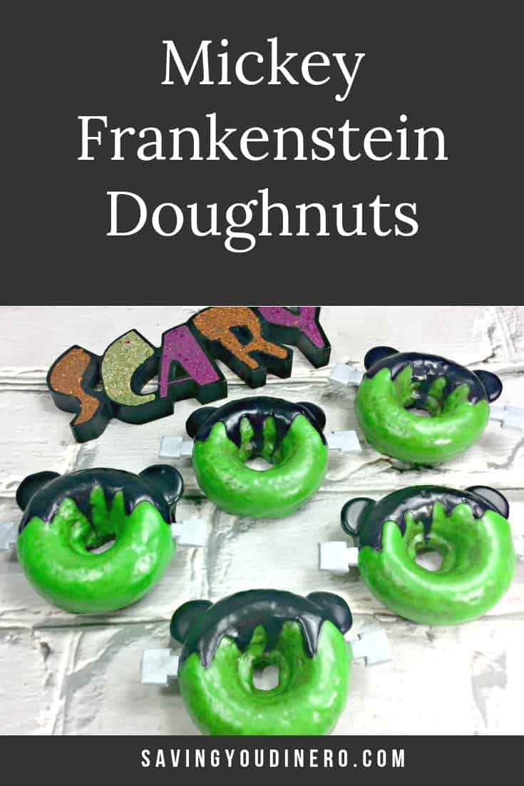 Mickey Frankenstein Doughnuts are a fun and homemade baked doughnut recipe your kids will love! They are cute chocolate cake doughnuts that are glazed. This Disney dessert is great for a Halloween Party. #Halloweentime #Halloweenfoods #FallFoods #SYD #holidaybaking #holidayrecipes